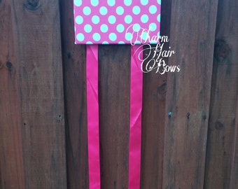 Minnie mouse inspired hair bow holder