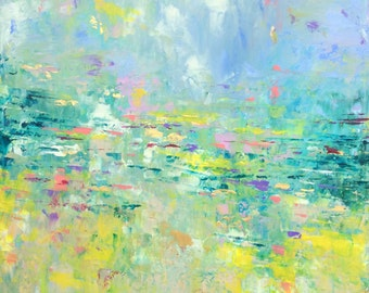 Abstract Art 'Long Weekend' - acrylic painting on canvas - size 36cm x 46cm