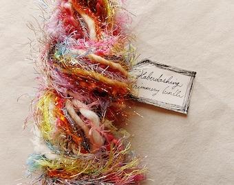 Simply Enchanted rainbow glitter trim multicolored fringe Novelty Fiber Yarn Sampler Bundle