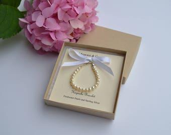 Freshwater Pearl Keepsake Bracelet | Christening Gift | Baby Gift | Flower Girl Gift