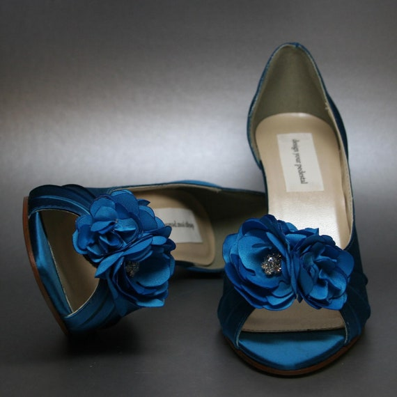 Turquoise Wedding Heels: Items Similar To Wedding Shoes -- Turquoise Peeptoe Heels