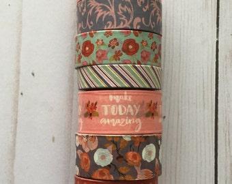 """Vintage Muted Florals Washi Tape Samples   24"""" sample"""