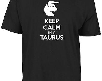 Keep calm I'm a Taurus t-shirt