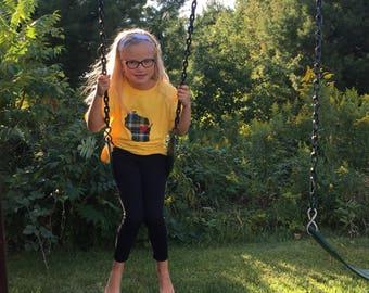 Wisconsin Packer  t-shirt, Wisconsin shirt, packer shirt, Wisconsin with a heart, Applique t-shirt, children's t-shirt