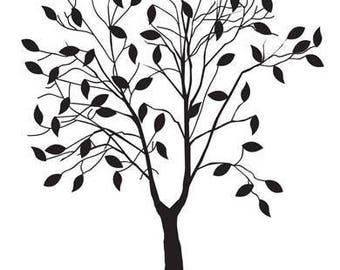 Leafing Tree Embossing Folder