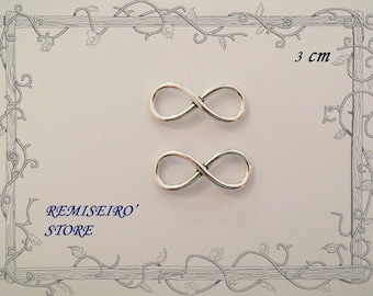 2 charms infinity/sign of life Silver 3 cm