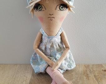 Handmade Ooak 12 Inch Doll / Art Doll / Heirloom Doll / Cloth Doll / Fabric Doll / Gifts for Baby / Nursery