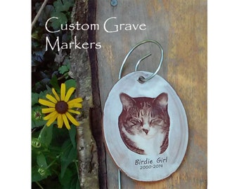 Pet Grave Marker Custom Image