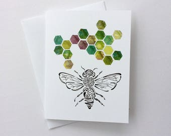 Bee Notecards - 5 cards