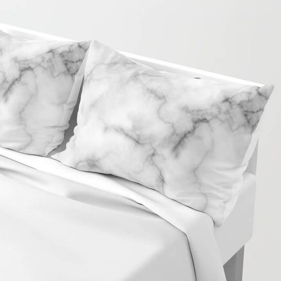 Marble Pillow Sham , White Accent Pillow Sham , Marble Pillow Case , Marble Decor , Marble Home Decor , Marble Cushion , Pillow Sham by Etsy