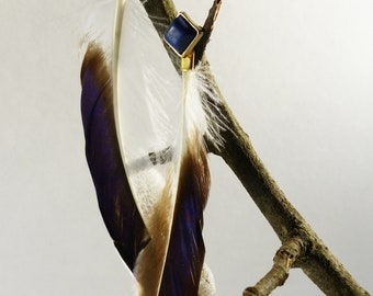 Feather earrings: Mallard wing