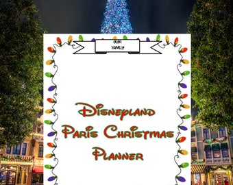 Disneyland Paris Christmas themed Planner A5 Download