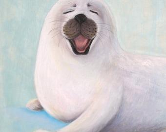 Baby Seal Giclee Print