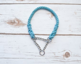 RTS 1/4IN 14IN TEAL CHAIN collar