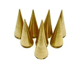 20 Pieces Raw Brass 10x25 mm Spike
