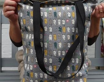 Tote Bag Cat Print