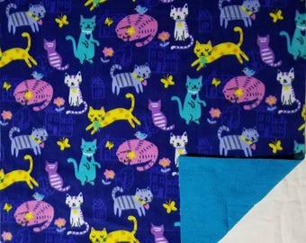 Fleece Cat Blanket - Luxury Cat Blanket - Cats & Houses