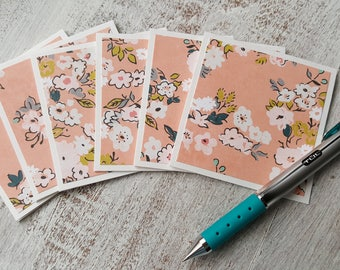 Mini Cards // Set of 6 // Floral Note Cards // 3x3 Cards // Just Because Cards // Blank Note Cards