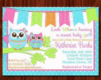 Owl Baby Shower Invitation (printable)