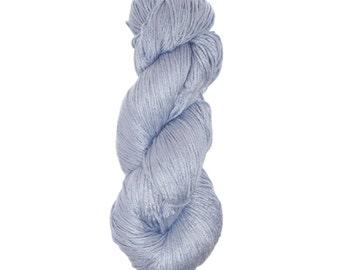 "Milk Yarn - DK/sock weight in ""Arctic Ice"""