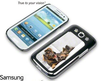 Custom Photo Personalized Samsung Galaxy 3 case and changeable photo panels-LOW SHIPPING- Great Gift Idea!