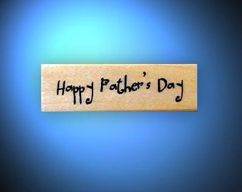 Happy Father's Day mounted rubber stamp, Fathers Day, dad No.14