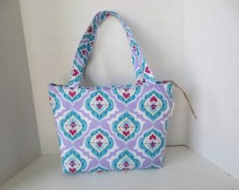 Spring Handbag Cate handbag Teal and lavander Handbag