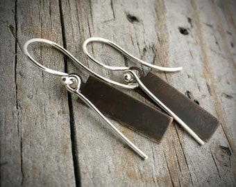 Sterling Silver Handmade Earrings  By Joy Kruse Wild Prairie Silver 'Prairie Sticks'