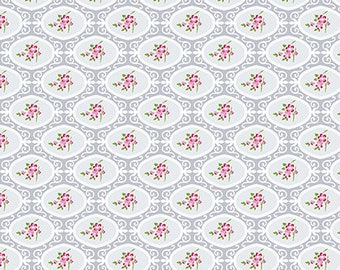 Charlotte Gray Cherry Blossom Yardage SKU# PWTW146.GRAYX  by Tanya Whelan for Free Spirit Fabrics