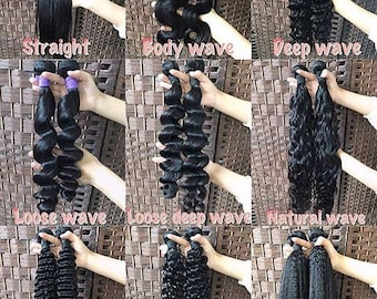 100% virgin human hair extensions...no shedding..double wefts 1 year longevity
