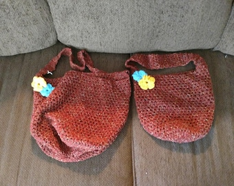 Mommy & Me Crocheted Market Bags