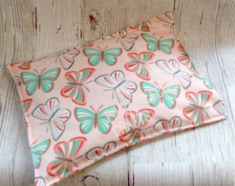 Butterfly heating bag, hot cold pack, migraine relief, back pain, microwave heating bag, girly gift, butterflies