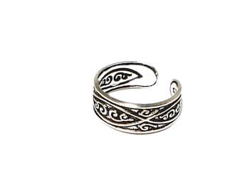ADJUSTABLE 925 Sterling Silver TOE Ring