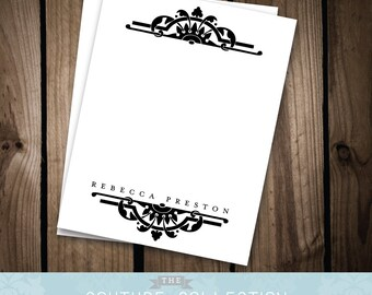 DECO Note Card - Classic, Elegant Printable DIY Digital File - Personal Stationery