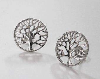 tree of life earrings, tree earrings, silver tree of life earrings, silver tree earrings, tree of life jewelry, celtic earrings, gift