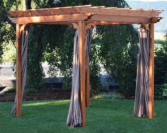 Red Cedar 6x8 Pergola Swing Bed Stand