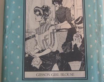 Gibson girl blouse sewing pattern.  Folkwear pattern no. 205, 1979. Vintage sewing pattern