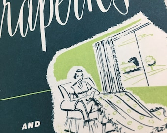 Vintage Curtain Guides. Circa 1950-1970. Illustrated pamplets.