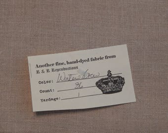 36 ct. Winter Brew Linen from R&R Reproductions (1/8th yard pricing)