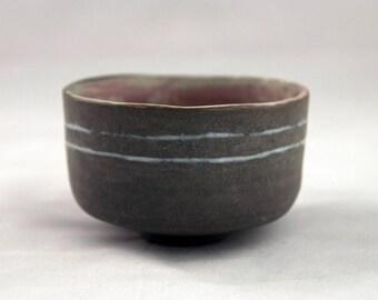 Ceramic teabowl, chawan, stoneware teabowl, handcrafted teabowl