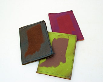 Indiana Painted Refillable Leather Notebook by Binding Bee Composition Notebook