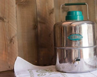 Vintage Thermos  Stainless Steel Outing Jug