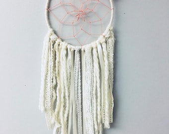 cream and peach dream catcher