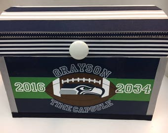 Seahawks Time Capsule Storage Chest
