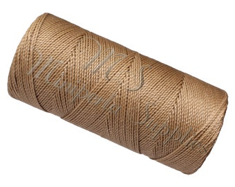 Spool of thread macramé waxed Linhasita - Beige
