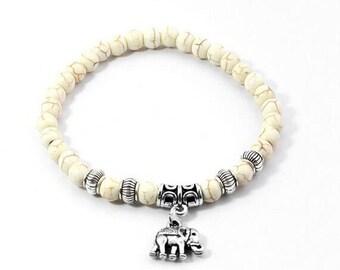 Tibetan Silver Elephant Bracelet