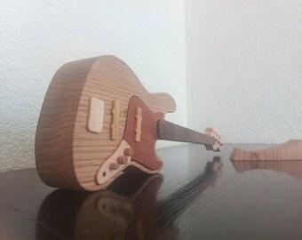 Wooden Bass Guitar