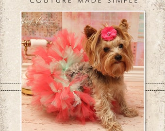 Miki's Rock Star Petti Tutu PDF Pattern sizes Small and Large Breed Dogs