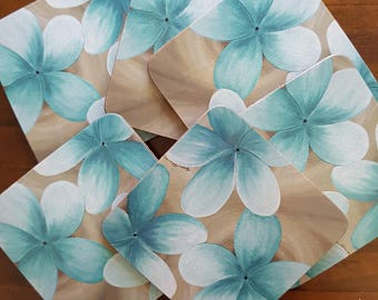 Blue Frangipani Coasters