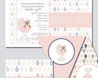 Teddy Bear Baby Shower Invitation and Decoration Printable